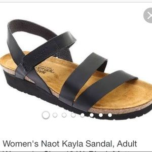 Naot kayla cork and leather sandals